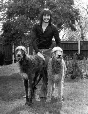John Entwistle and his doggies.