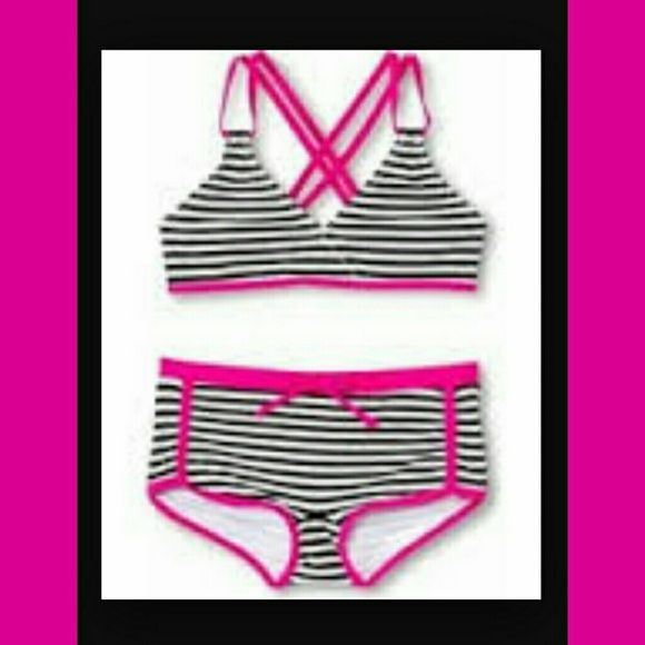 Cute Girls Bikini - Size 14/16 XL This is bikini is super cute. This is a girl's XL 14/16 but would also fit a Ladies small. New with tags. Xhilaration Swim Bikinis