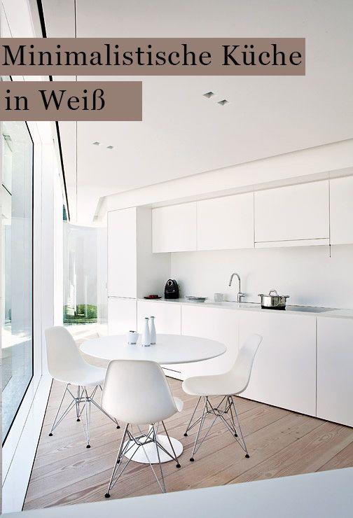 Minimalistische Kuche In Weiss Bild 10 Minimalistische Kuche Kleine Wohnkuche Wohnen