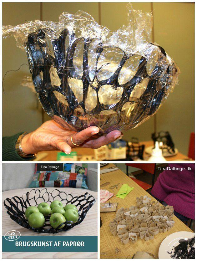 Skåle lavet af #genbrug og #paprør Fra Tina Dalbøges e-bog Brugskunst af paprør