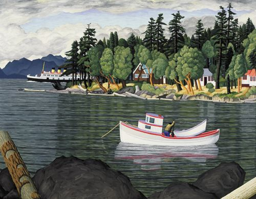 Taylor Bay, Gabriola Island, B.C. - 1952 oil on canvas E J Hughes
