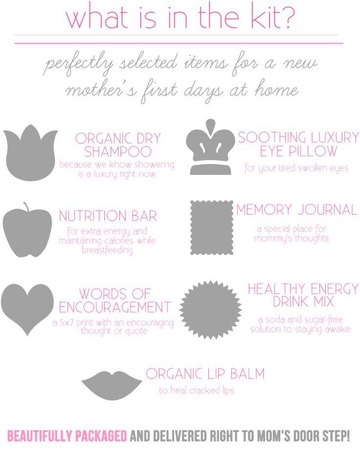 What Is Inside The New Mom Survival Kit I Like The Words