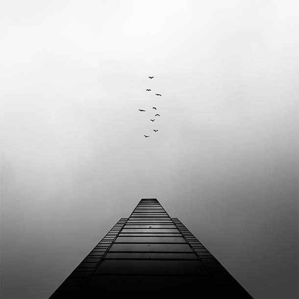 Architecture abstraite et photographies en noir et blanc (image)