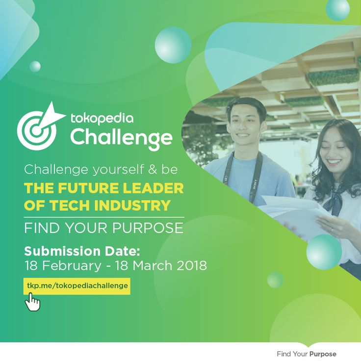 Calling out to all young future leaders in Technology!  Be Different & Make a Difference  Take the next step in your leadership experience in Tech industry by joining Tokopedia Challenge program. This 4-days program, will offer you the opportunity to be involved in intensive training prog. You will be able to work in a team & to network with the management.   A life-changing experience await you! Students from all major are welcomed to apply Register before 16 Mar'18…