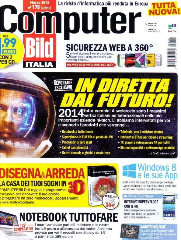 Computer Bild Italia 178 - Marzo 2013 Italiano | PDF | 84 pagine | 93,7 Mb