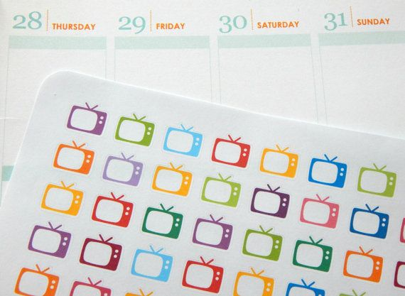 TV planner stickers from Anna's Planner Bubble on Etsy https://www.etsy.com/uk/listing/265239591/tv-planner-stickers-perfect-for-your