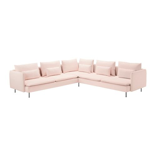 SÖDERHAMN Sectional, 4-seat corner, Samsta light pink Samsta light pink