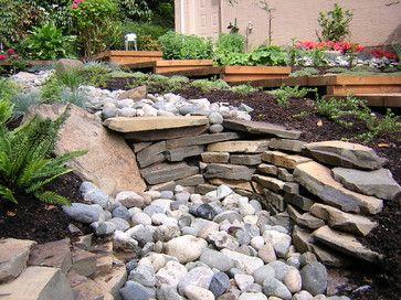 river rock garden design ideas gardening pinterest