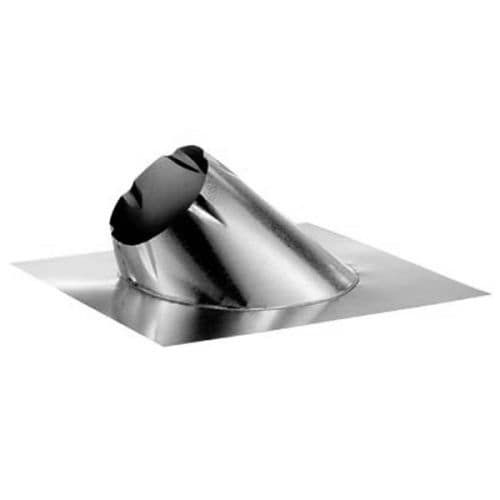 DuraVent 10DT-F6 10 Class A Chimney Pipe Adjustable Roof Flashing for 0/12 - 6/, Blue storm