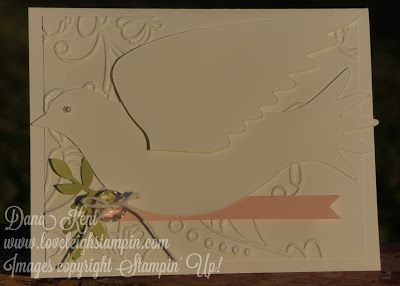 """Stampin' Up! """"On the Wings of a Dove"""" Card"""