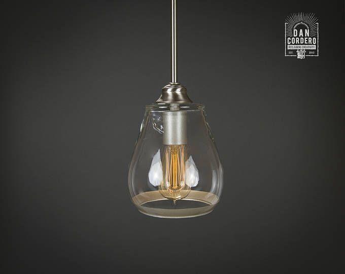 lmpara colgante bombilla de edison nquel cepillado colgante luz de la cocina