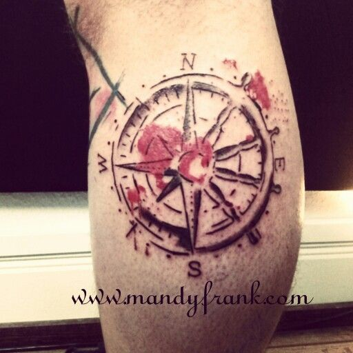 #aquarell #tattoo #watercolor #tattoo #sketch #kompass #steuerrad #mandyfrank