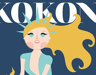 "Check out new work on my @Behance portfolio: ""NEW YORK / KOKONE POSTER"" http://on.be.net/1NkEFbJ"