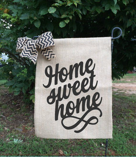 Home Sweet Home Flag Spring Flagshome Signs Welcome Home Burlap Yard Flag Burlap Garden Flags Garden Flag Stand