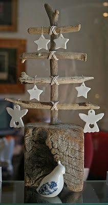 Un árbol de navideño diferente. Una alternativa diferentes para decorar tu casa estas navidades. Más ideas en el blog.