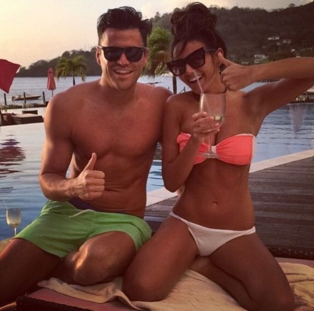 "Michelle Keegan ""fattens up"" fiancé Mark Wright before Vegas stag do? Michelle Keegan #MichelleKeegan"