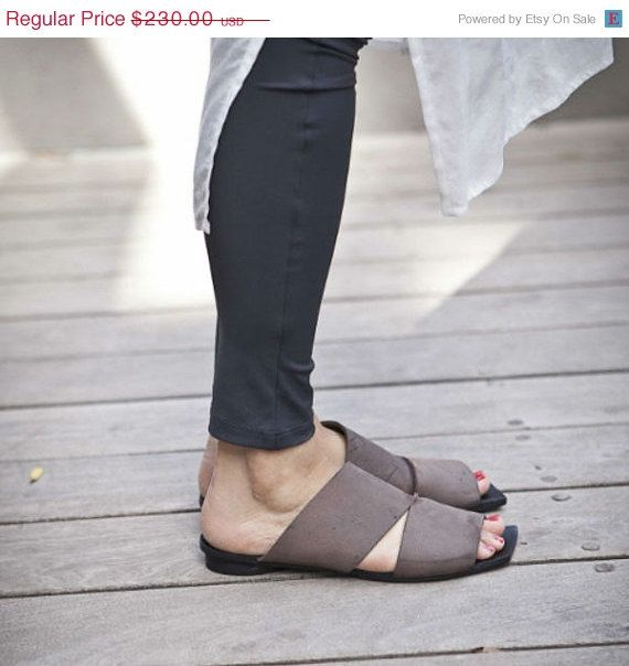 SUMMER SALE 30 Brown sandals / Brown Leather by WalkByAnatDahari, $161.00