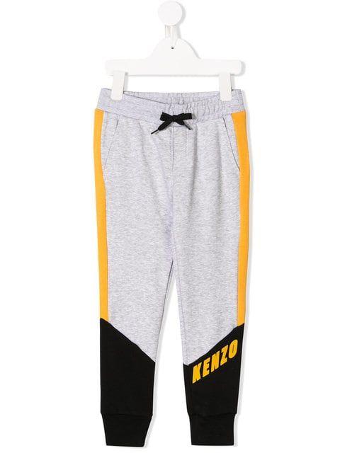 c27225af75 Shop Kenzo Kids colour block tracksuit pants .   CB   Tracksuit ...