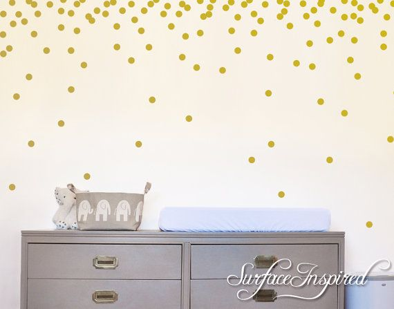 Removable Confetti Polka Dot Wall Decals For Nursery And Kids Rooms. We Can  Do These Part 95