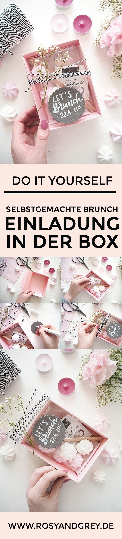 Brunch Einladung selbermachen in der Pappschachtel – DIY Blog – Personello – DIY Ideen: Geschenke, Deko, Basteln & Selbermachen