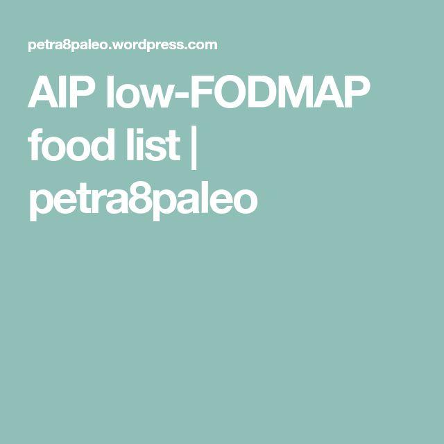 AIP low-FODMAP food list | petra8paleo