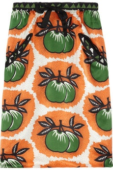 Easton Pearson Printed silk-satin #skirt
