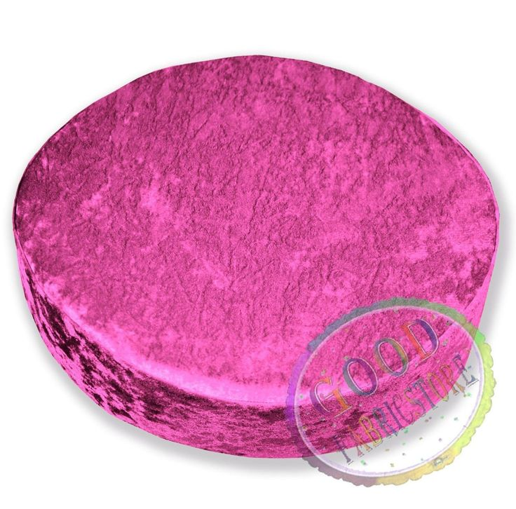 Mv99R Hot Pink Diamond Crushed Velvet 3D Round Seat Cushion Cover Custom Size