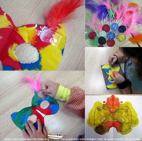 17 best ideas about mascaras para ni os on pinterest - Como hacer una mascara ...