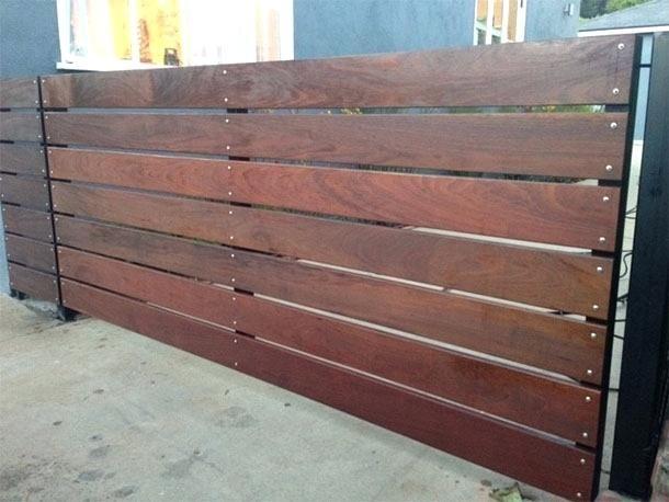 Horizontal Wood Fence Horizontal Wood Fencing Horizontal Wood