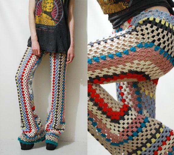 Punto de GANCHILLO abuela cuadrados pantalones por cruxandcrow                                                                                                                                                                                 Más