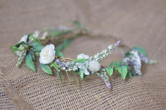 Veronica Floral Crown by HeavyPetalDesigns on Etsy