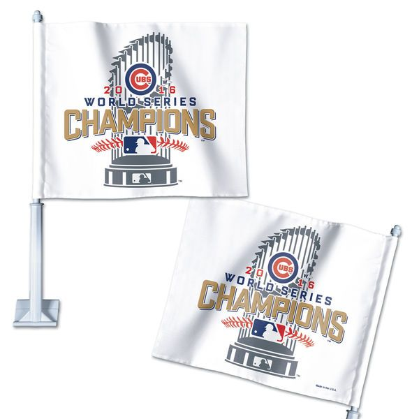 Chicago Cubs WinCraft 2016 World Series Champions On Field Locker Room Celebration Car Flag - $15.99