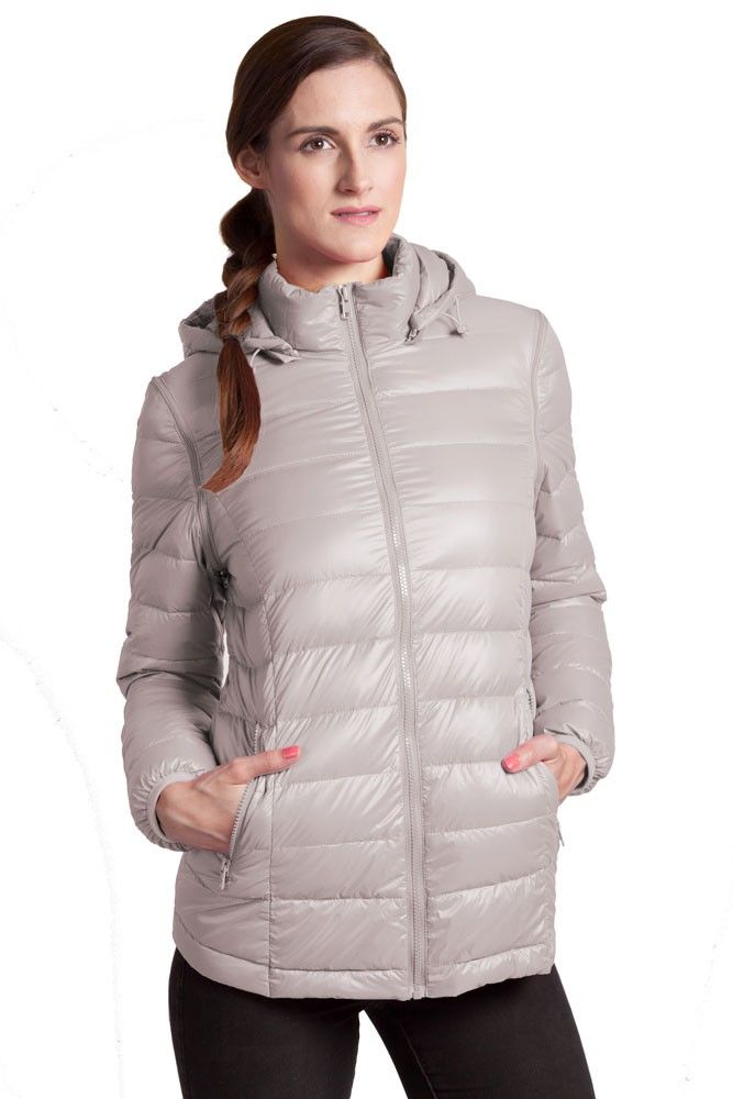 Vale 5-in-1 Lightweight Down Maternity Jacket in Grey. Please use coupon code NewProducts to receive 15% off these items. To receive the discount, please place your order by midnight Monday, October 26, 2015