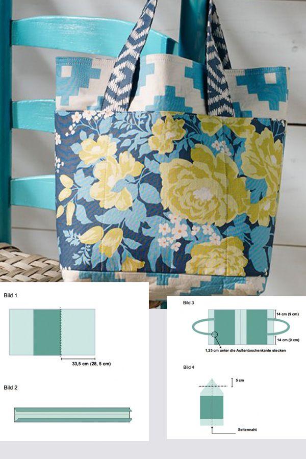 Neue Tasche gefällig? Hier gibt's die einfache Schritt-für-Schritt-Anleitung: http://www.gofeminin.de/wohnen/tasche-selbernahen-s1393185.html  #diy