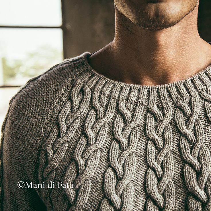 Particolare maglia uomo http://www.manidifata.it/edicola/mani-di-fata/mani-di-fata-di-gennaio-2015-c8-mf-01-15-html.html
