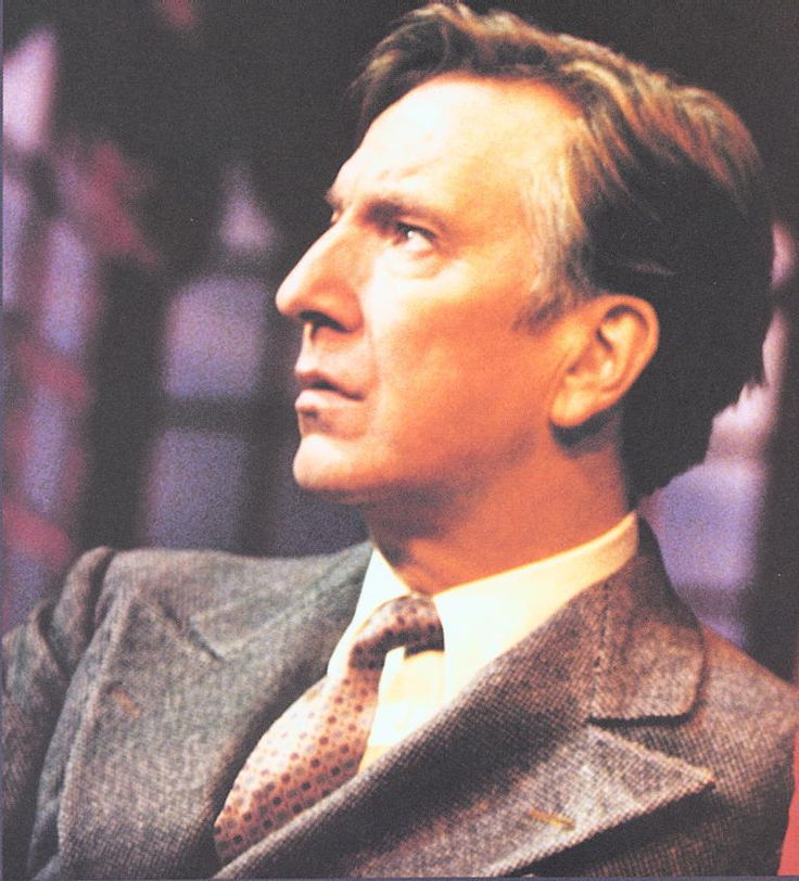"2001 - Alan Rickman - This photo has been cropped. I think the original photo is a promo pic for ""Private Lives."""