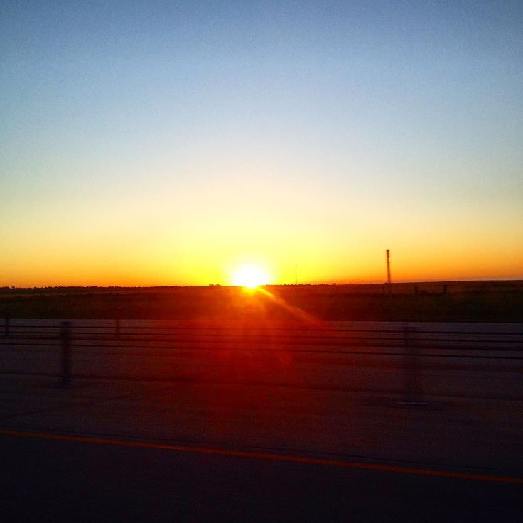 Didn't wake up early enough to get a picture of the sunrise today so here's one from yesterday. #travelgram #roadtrip #instatravel  #landscape #oklahoma #sunrise by letsdestroysomethingbeautifulx