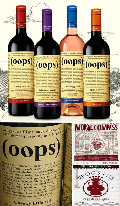 Wine label Oops: Wine Labels Design, Wine Names Funny, Oop Wine, Funny Names For Wine, Creative Wine, Funny Wine Names, Wine Bottle, Things Wine, Funny Wine Labels