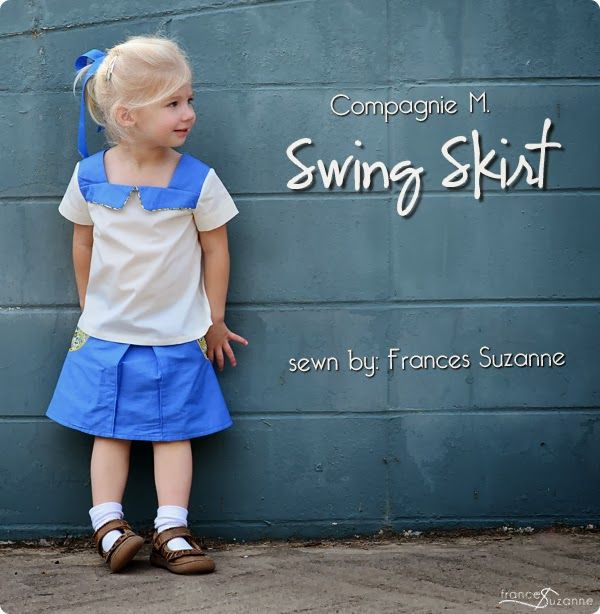 Frances Suzanne | Sewing with Sisters: Compagnie M. Swing Skirt and Oliver + S Croquet Dress {modified to blouse length}