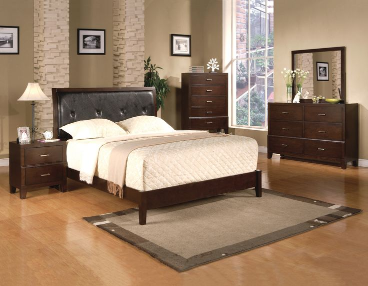 Crown Mark 3790 Black Queen Sleigh Bedroom Collection
