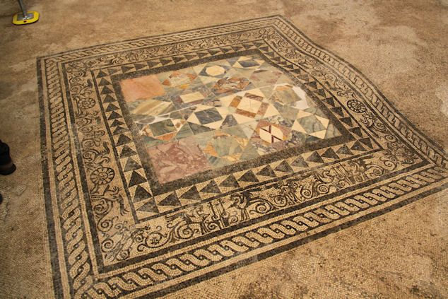 """Pompeii~In the garden, a large cistern, used to supply water to the bakery, has been excavated, along with mosaic floors and beautiful frescoes.    """"This shows how the Pompeian society was alive and active at the time of tragedy,"""" Antonio Varrone, the excavation director, said.    Pictures: Courtesy of Soprintendenza Archeologica Napoli e Pompei."""