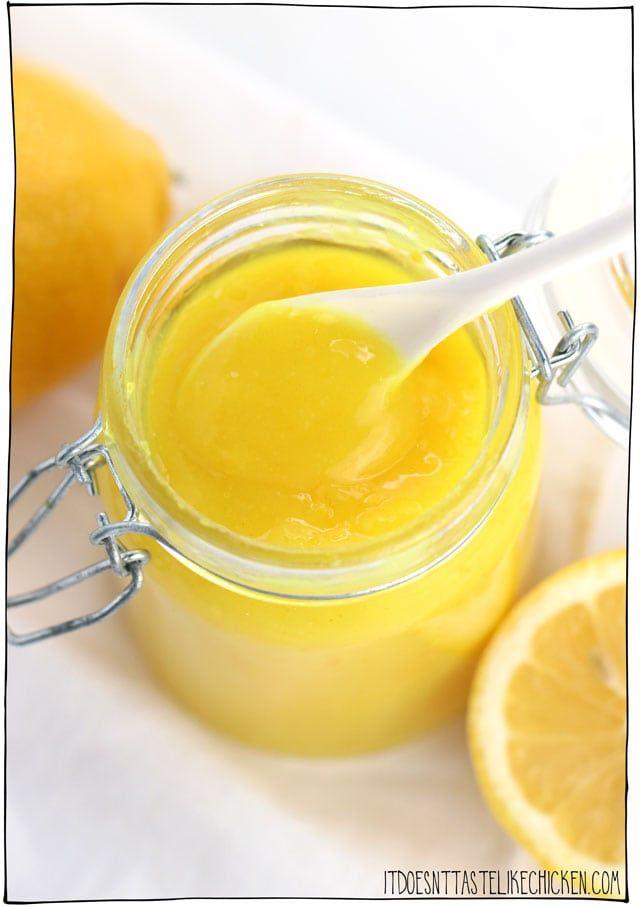 Easy Vegan Lemon Curd Recipe Vegan Lemon Curd Lemon Curd