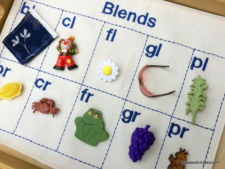 Montessori Blue Series Language Mat With Objects