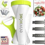 #kitchenware #kitchentools #8: New & Updated 4-in-1 enviHome Zoodle Maker Vegetable Spiralizer | The Best Selling 4-Blade Spiral Veggie…