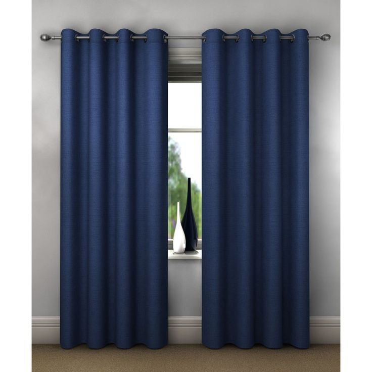 "Dreams Dim Out Eyelet Curtains 46"" x 72"" Blue"