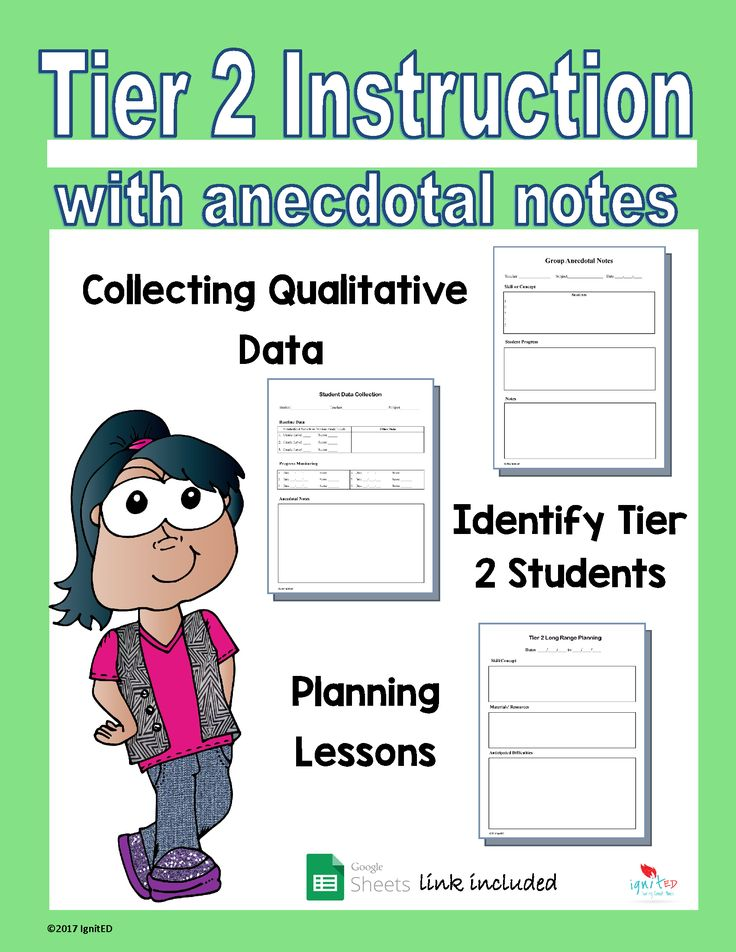 Tier 2 Instruction with anecdotal notes is product that will help classroom teachers to track Tier 2 student progress and plan for small group lessons. The product includes- - forms for identify and collecting student data -long range planning form - small group anecdotal and student progress forms ***Google Sheets link included Read More →