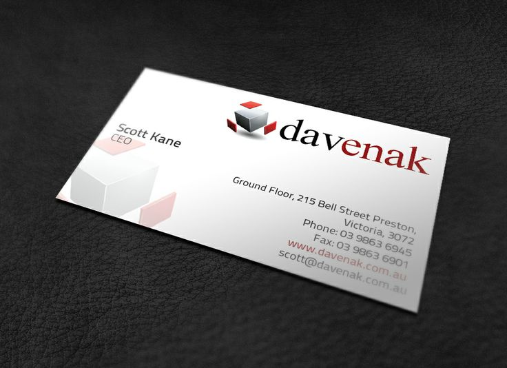 Business Cards Produced For Melbourne WordPress Web Design Service Davenak