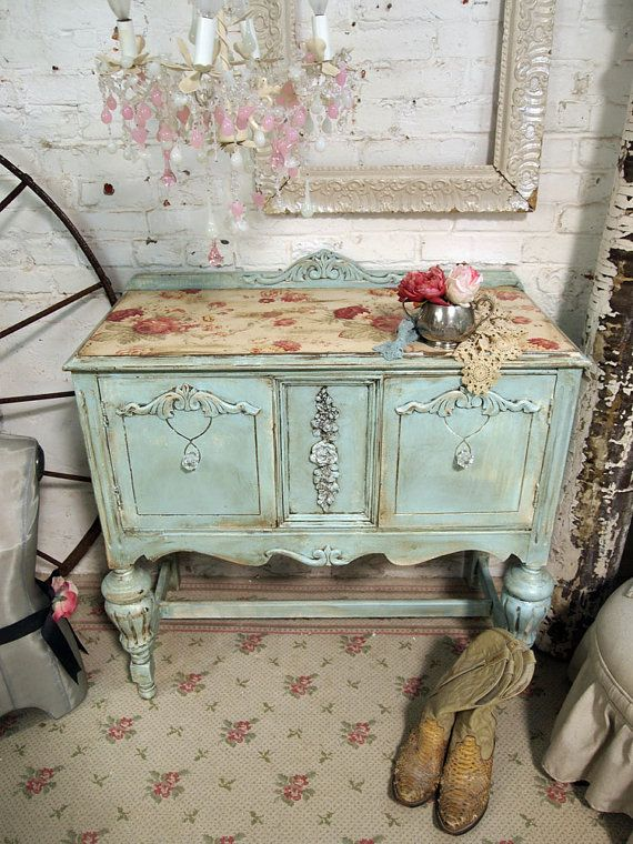 Pink And Grey Sideboard