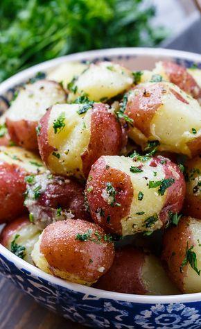 Buttered Garlic Parsley Potatoes