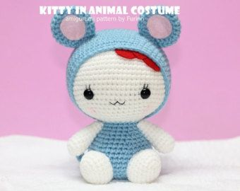 PDF Pattern Kitty in Pig Costume / Chinese Zodiac Pig by furinn